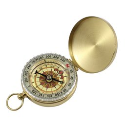 $enCountryForm.capitalKeyWord Australia - Traditional Brass Metal Luminous Compass Pocket Antique Camping Hiking Portable Watch Compass Keychain Flip Noctilucence Multi function DHL