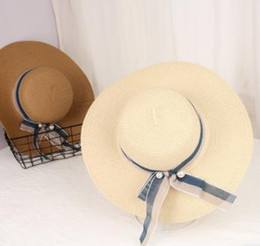 Korean Brands Hats Australia - 2018 Hot Sale and Brand New Style Straw For Ladies Korean Sun Protection Hats Travel Beach Hats