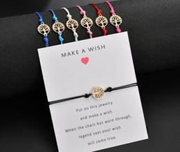 Best Christmas Gifts For Men Australia - 2019 Lucky Red Thread Adjustable Wish Bracelets For Women Men Kids Gold Life Tree Charm Bracelet Best Gift For Birthday