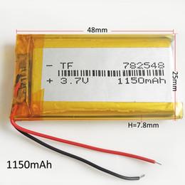 $enCountryForm.capitalKeyWord NZ - Model 782548 3.7V 1150mAh Lithium Polymer Li-Po Rechargeable Battery Li cells For DVD PAD Tablet PC Power bank mobile phone GPS