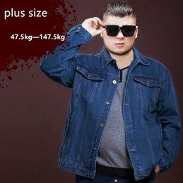 Wholesale mens travel jackets resale online – Plus size XL cm chest mens travel Washing clothing man Cowboy Slim coat male denim outerwear hiking male jacket clothes