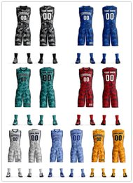 35428d937 Custom Mens Youth kids basketball Sets Jerseys suit student group competition  training team uniforms custom shorts sports jersey