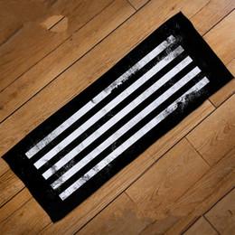 $enCountryForm.capitalKeyWord Australia - Sports towel Korea Tide brand Hip hop stripe fiber towel Yoga dance Fitness letter Sports towel new style wholesale