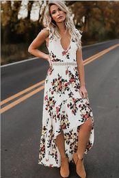 2db1400678 Summer Women Bohemian Beach Dress Boho Sexy Prom Floral Print Long Maxi  Party Beach Sundress Long Maxi Dress Vestidos Femininos New