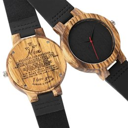 anniversary gifts for mom Australia - Personalized Engraved Wood Quartz Watches Gifts For Mom, Girlfriends, Birthday, Anniversary Day,Groomsman Gift Women Watches