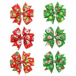 $enCountryForm.capitalKeyWord NZ - See_Katy Christmas New Children's Printed Bow Hairpin Baby Decoration Hair Carlo Hair With Hair Accessories SPH0081