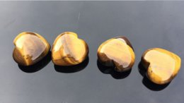 $enCountryForm.capitalKeyWord Australia - Natural tiger eye stone heart shaped semi - precious stone pendant