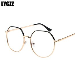 463c17b2d62 LYCZZ Glasses Frame for Women Men Optical Glasses Gold Metal Transparent  Clear Lens Sun Eyeglasses Frames lentes opticos mujer