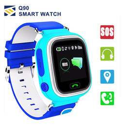 Wifi for phone calls online shopping - Q90 Kids Bluetooth Smartwatch Smart Watch for Child apple iPhone Android Smart Phone with GPS Tracker WiFi LBS Wearable Device PK Q50 Q60