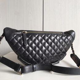 $enCountryForm.capitalKeyWord NZ - Women Waist Belt Fanny bag zip pouch lambskin Ladies Genuine Leather purse Cross Body patchwork Retro style Bolsa Feminina top quality bags