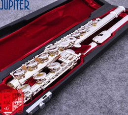 $enCountryForm.capitalKeyWord Australia - Free shipping taiwan flute JUPITER JFL-711 RBES 17 open hole C tune E key Silver flute Musical instruments Professional flauta transversal