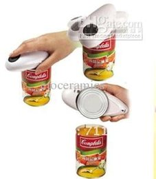 can opener one touch Australia - 100pcs lot Hot Sale Automatic one touch can opener, bottle opener Free shipping wholesale