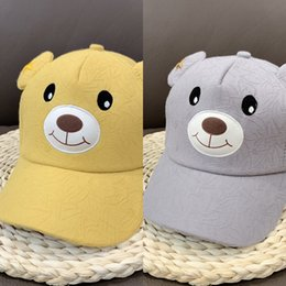 nose warmers Canada - vcgnO The nose will be bright cute cartoon bear children's hat fashionable male female student children's warm Warm Baseball cap baseball ca