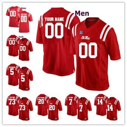 14eb5de9 Custom Ole Miss Rebels College Football jersey Mens Women Youth  Personalized Stitched Any Name Number stitched Jerseys
