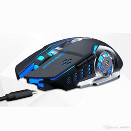 Batteries Usb Mouse Australia - Q13 Wireless Recharging Backlight Illuminated Glowing Gaming USB Mouse 2.4GHz 2400 DPI Battery Built in Black White Gamer.