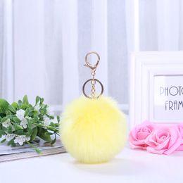 RubbeR ball beaRings online shopping - Wool wool ball pendants Maomao ball high grade automobile key button pendant accessory wool wool ball