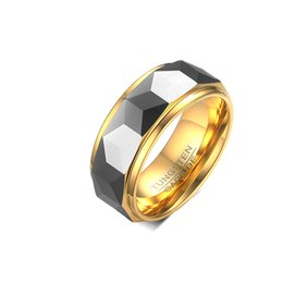 $enCountryForm.capitalKeyWord UK - Designer Engagement Wedding Band Rings for Men European and USA Style Tungsten Steel Carbide Rings Gold and Black Color
