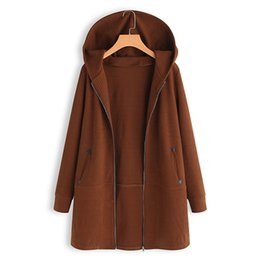 04574b6783f2f 2019 Women Autumn Vintage Hooded Long Sleeve Solid Patchwork Coats Femme  Casual Knitted Cardigans Loose Jackets Solid Overcoat