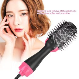 hair curlers japan Australia - One Step Hair Dryer Brushes Volumizer Ionic Blow Dryer Brush Electric Hot Air Brush 4in1 Hair Curler Straightening Combs Hair Styling Tool