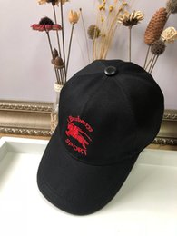 Uk Hats Australia - UK BBRY 19ss Men's Hats Lady's Summer Hat Black Elegant Casquette with Logo Embroidery Baseball Hat