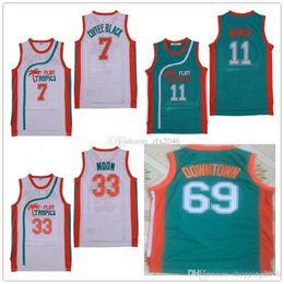 a069b2e97fe Wholesale  69 Downtown  7 Coffee Black Jersey  33 Jackie Moon  11 ED Monix  Mens Semi Pro Movie Flint Tropics Basketball Jerseys Stitched