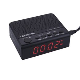 Audio TF MP3 Carica USB Porta Telefono Chiamate in vivavoce Radio FM Altoparlanti Bluetooth senza fili LED Subwoofer Alarm snooze Clock
