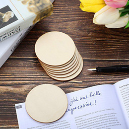 $enCountryForm.capitalKeyWord Australia - 50pcs Natural Blank Wood Pieces Slice Round Unfinished Wooden Discs for Crafts Centerpieces Wooden DIY Christmas Ornaments
