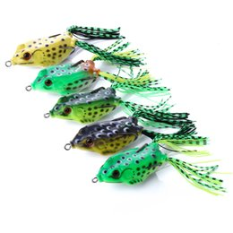 $enCountryForm.capitalKeyWord NZ - 5pcs box Silicone Soft Frog Fishing Lures for Snakehead Lifelike Swimming Ray Frog Baits 12g 60mm Topwater Minnow Crankbait Fishing Tackle