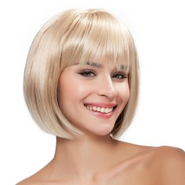 color bob wigs UK - Details about Fashion BOB Short Straight bangs Women Ladies Daily Hair wig + wig cap