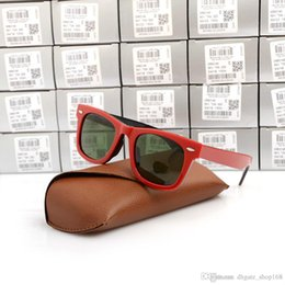 $enCountryForm.capitalKeyWord Australia - New Brand men Sunglasses Excellent Quality Plank red black Sunglasses glass Lens Green Lens Sunglasses beach sun glasses with Original cases