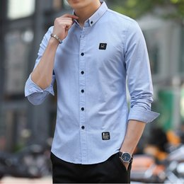 Mens Long Sleeve Polo Blue Australia - Designer T Shirts For Mens Polo Shirts Spring Autumn Long Sleeve Mens Shirts Open Stitch Casual Tops Clothing 3 Colors M-3XL
