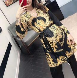 $enCountryForm.capitalKeyWord NZ - 3PCS Sexy Lingerie Women Satin Nightdress Silk Lace Kimono Nightgown Sleepwear Sexy Robe V-neck Summer Lounge Set Satin Pyjamas M L