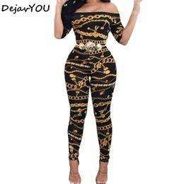 $enCountryForm.capitalKeyWord Australia - New Spring Autumn Off Shoulder print Jumpsuits Long Pants For Women Elegant Fitness Short Sleeve Playsuit Sexy Club Rompers