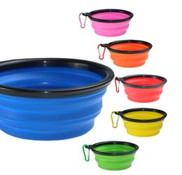 Pet Feeder Bottle Water UK - Hotsale !Foldable Puppy Dog Travel Bowls for Dogs Cats Safety Pet Cat Drinking Bottle Dog Water Food Bowl Pets Feeder Cat Accessories