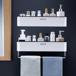 Badezimmer Regal Wand befestigte Shampoo-Dusche-Regale Halter-Küche Storage Rack Organizer Handtuchhalter Bad-Accessoires im Angebot