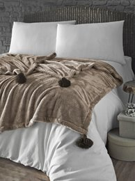 Denizli Concept Puffy Wellsoft Blanket 160 x 200 cm Camel Ship from Turkey HB-002942329 from cars bedding manufacturers