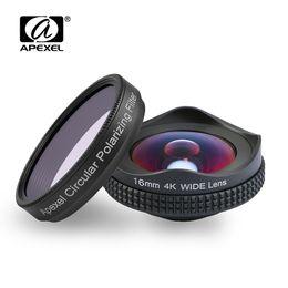 $enCountryForm.capitalKeyWord Australia - Apexelprofessional 4k Wide Lens Circular Polarizing Filter 16mm Hd Super Wide Angle Lens For Iphone 6s Plus 7 Htc More Phone J190704