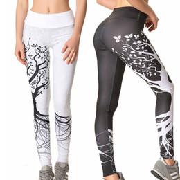 leggings tree print 2019 - Tree Pattern Sport Slim Leggings Printed Yoga Pants High Elastic Waist Push Up Jogging Fitness Gym Sportwear yoga Pants