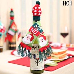 $enCountryForm.capitalKeyWord NZ - 2 pcs pack 2020 1pc Christmas Wine Bottle Snowman Santa Decoration Xmas Bottle Cap Xmas Decor Merry Christmas