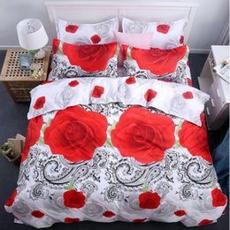 wolf bedding sheet sets 2020 - Bedding Set 3D Roses lilacs wolves blue Witches pastoral style 4pcs family children's room Duvet Cover Bed Sheet Se