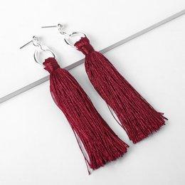 $enCountryForm.capitalKeyWord Australia - B-011-11 2019 new long tassel earrings fashion silver plated earrings Europe and America Bohemia retro national wind earrings free shipping