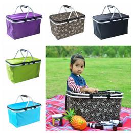 Outdoor Picknick Mahlzeit Tasche Falten Oxford Tuch Eisbeutel Familie Outdoor Picknick Aufbewahrungstasche Zum Mitnehmen Container Taschen 5 Farben CCA11779 6 stücke im Angebot