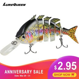 multi jointed fishing lures Australia - 10cm 14g Topwater Multi Jointed Swimbait Wobblers 6 Segments Fishing Lures Hard Bait Crankbait Fishing Tackle Pesca Isca