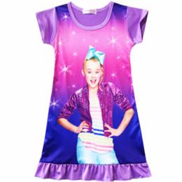 36775c45d2b7 Cute sleeping dresses online shopping - 2018 Girl Kids Jojo siwa Pyjama  Nightie Dress Cartoon Sleep