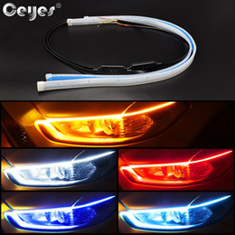 car drl led strip NZ - Winsun 2pcs Led DRL Daytime Running Lights Turn Signal DRL Led Strip Car Light Accessories Brake Side Lights Headlights For Auto BMW Benz