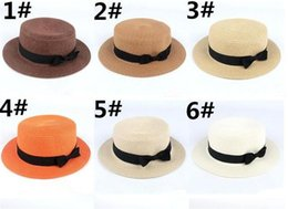 b413cb7d54e65 Man Women Straw Hat Summer Beach Hats Children And Adult Size Flat Top  Straw Hat Men Boater Hats Flat Bowler Hat Trilby Hats Hat Store From  Sunnydealers
