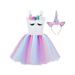 Wholesale carnival clothes for kids online – ideas Children Girls Princess Cosplay Costumes Dress for Kids Halloween Costume Knee Length Dress Up Fancy Party Carnival Clothes