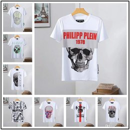$enCountryForm.capitalKeyWord NZ - 21model Spring Summer Men Women Skull Printing Black White T-shirts Teenager Casual Round Neck Short Sleeve T-Shirts