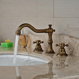 Sink two faucetS online shopping - and Retail Basin Sink Faucet Two Handles Three Holes Elegant Countertop Mixer Taps Antique Brass