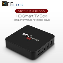 $enCountryForm.capitalKeyWord Australia - Wholesale MXQ Pro Android 7.1 TV Box ROCKCHIP RK3229 Quad Core 4K HD Smart Mini PC 1G 8G Wifi IPTV Media Player